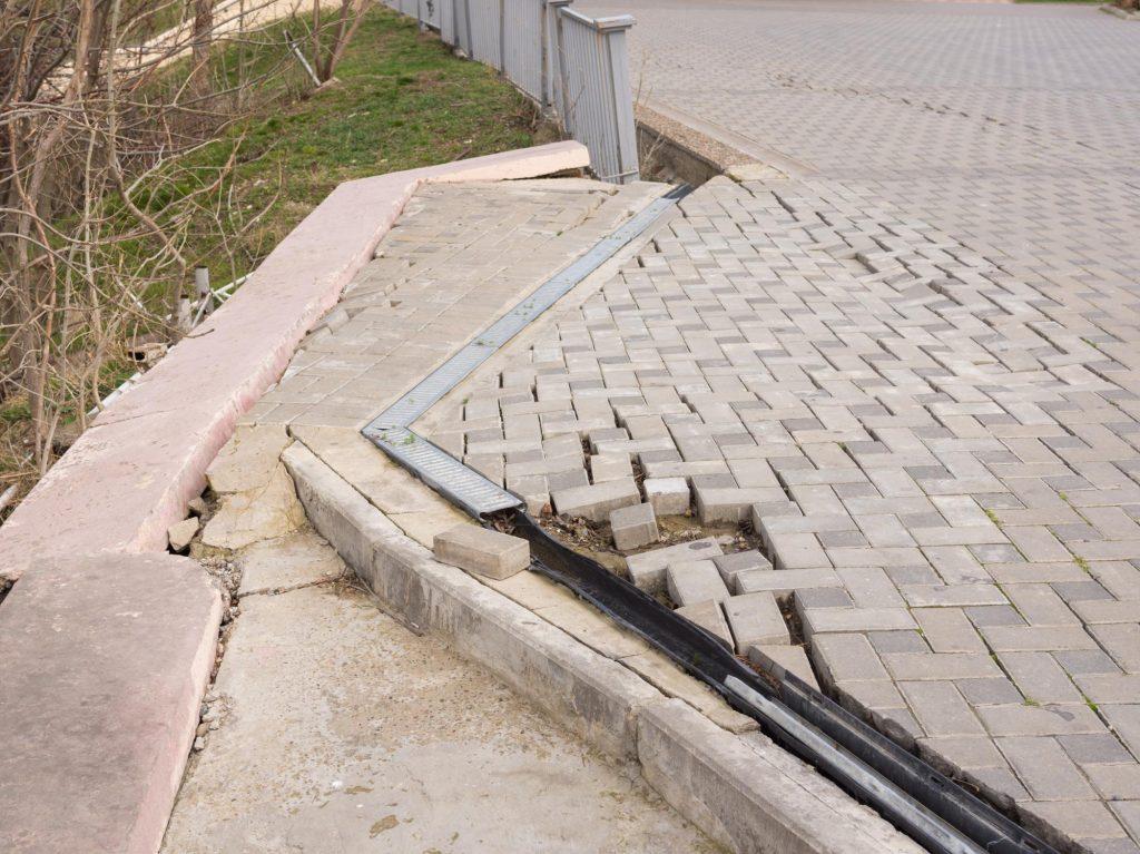 driveway repair in progress