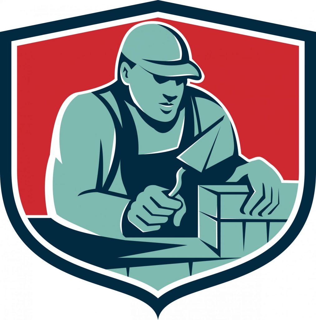 masonry concrete contractor logo