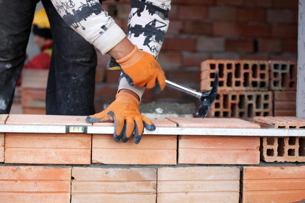 this image shows escondido concrete masonry pros bricklayer task