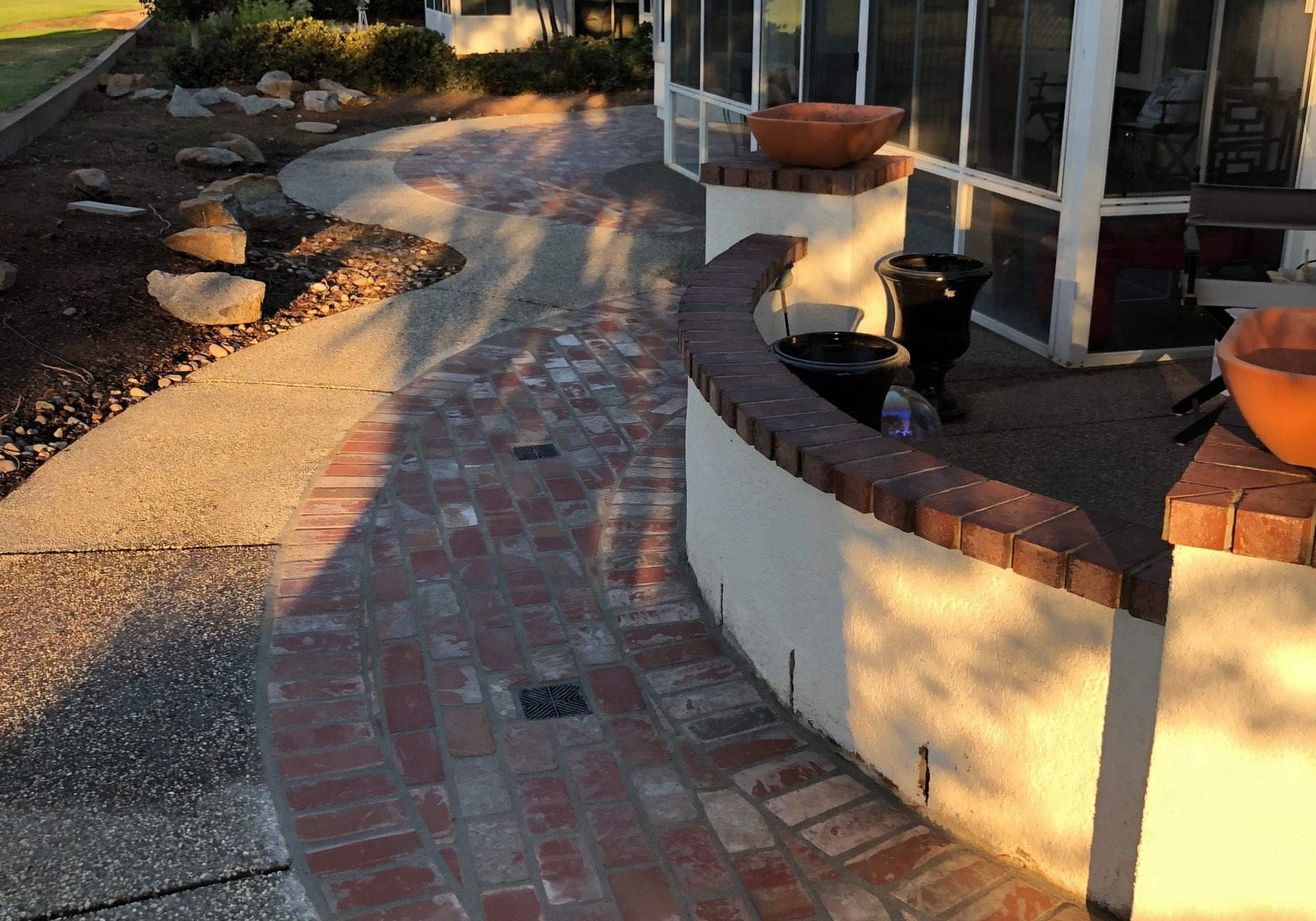 The photo shows the finished concrete work in Escondido, CA.