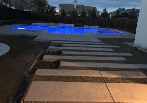 An image of finished concrete work in Escondido, CA.