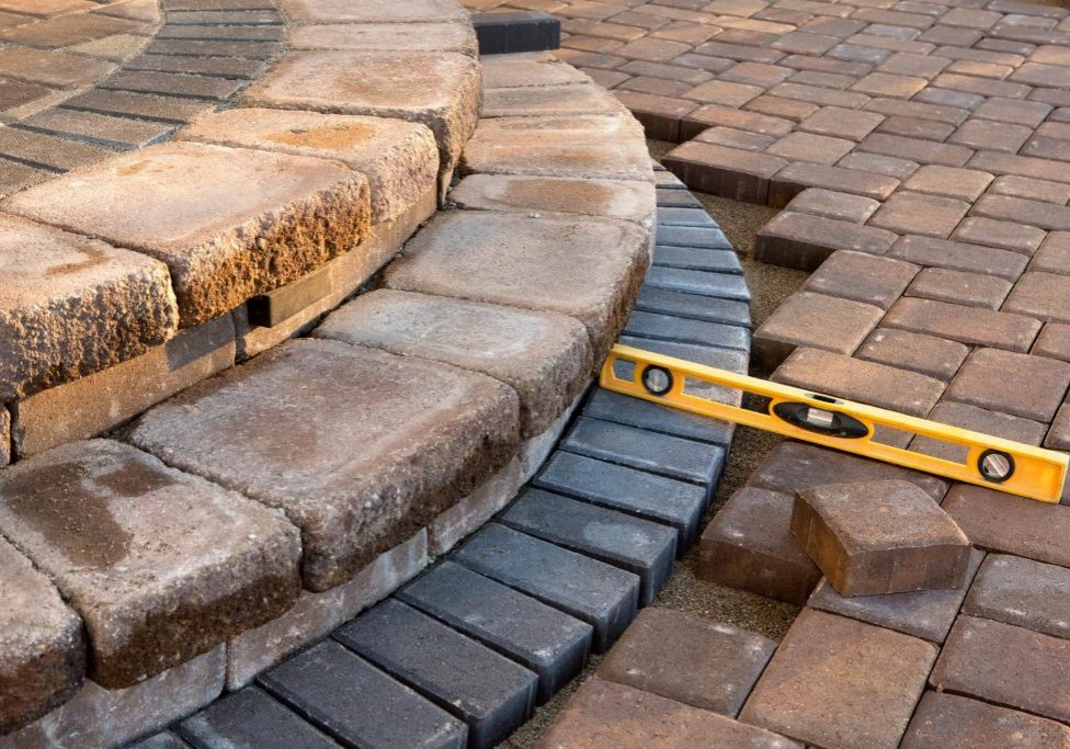 balancing the stones of patio