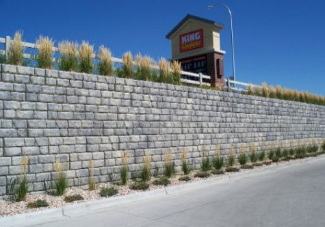 This image shows retaining wall work in Escondido, CA.