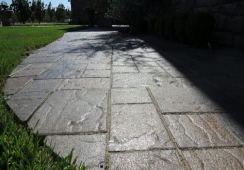 This image shows stamped driveway work in Escondido, CA.
