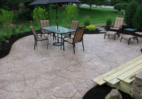 this image shows concrete patio escondido