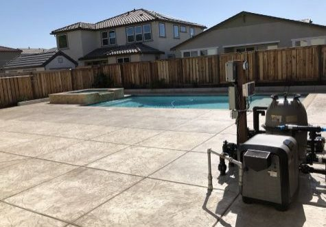 this image shows pool deck in escondido concrete
